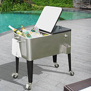 Sunjoy Plato 80-Qt. Stainless Steel Wheeled Cooler