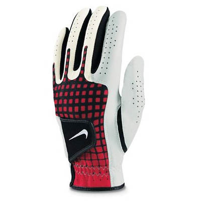 Nike Tech Xtreme III Medium Left-Hand Leather Golf Glove - White/Red/Black