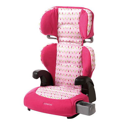 Cosco Pronto Belt-Positioning Booster Car Seat - Pink/Teardrop