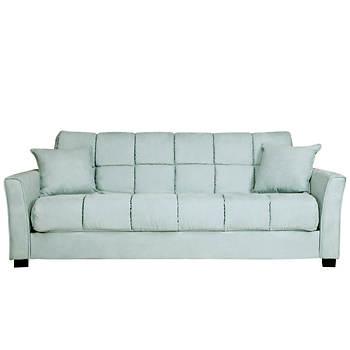 Handy Living Convert-a-Couch Full-Size Sleeper Sofa - Light Blue