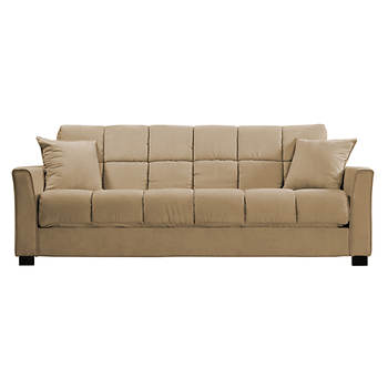 Handy Living Convert-a-Couch Full-Size Sleeper Sofa - Khaki