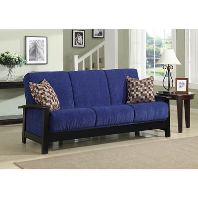 Handy Living Boston Convert-a-Couch Full-Size Sleeper Sofa - Blue