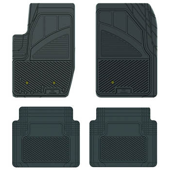 Koolatron Kustom Fit Car Mats for Ford Explorer, 2006 and On, 4-Piece Set - Black