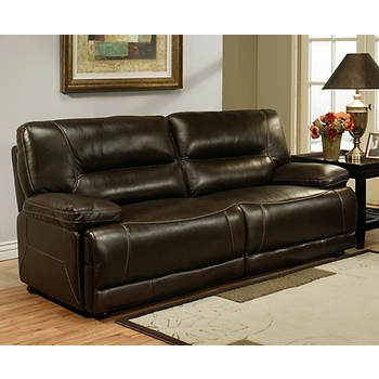 Abbyson Living Sydney Top-Grain Italian Leather Sofa - Dark Brown
