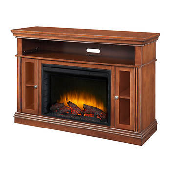 Pleasant Hearth Richmond Media Console Electric Fireplace - Cherry