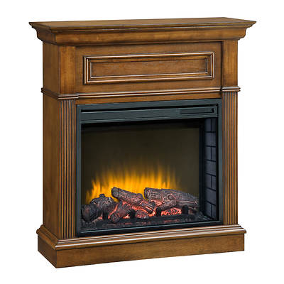 Pleasant Hearth Fulton Compact Electric Fireplace - Oak