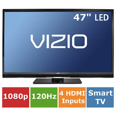 "Vizio Razor 47"" LED HDTV 1080p 120Hz Wi-Fi  Vizio Apps"