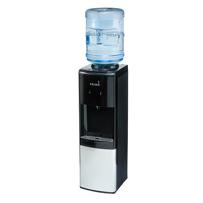 Primo Top-Loading Hot, Cool and Cold Bottled Water Dispenser - Black/Stainless Steel