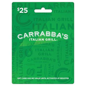 $25 Carrabba's Italian Grill Gift Card