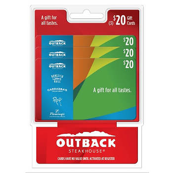 $20 Multipack Outback Steakhouse Gift Cards, 3-Pk