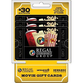 $10 Multipack Regal Cinemas Gift Cards, 3 pk.
