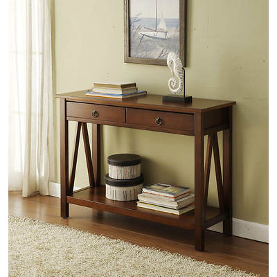 Linon Titian Console Table - Antique Tobacco