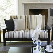 Handy Living Virginia X-Design Loveseat - Black Stripe