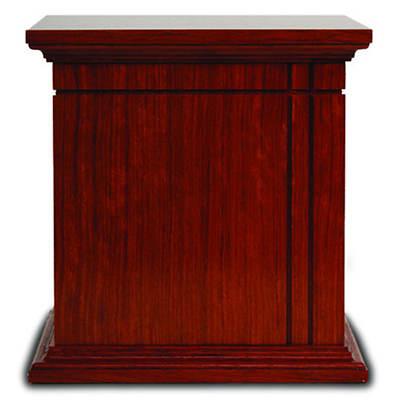 Star Legacy Contemporary Classic Large/Adult Wood Urn - Mahogany