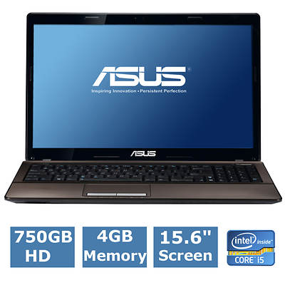 ASUS X53E-RS51 Laptop, 2.6GHz Intel Core i5-2450M Processor