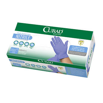 Curad Large Powder- and Latex-Free Nitrile Exam Gloves, 200 ct.