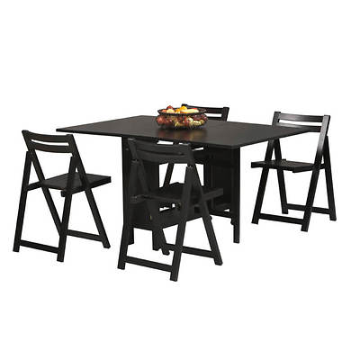 Linon 5-Piece Space Saver Dining Set - Black