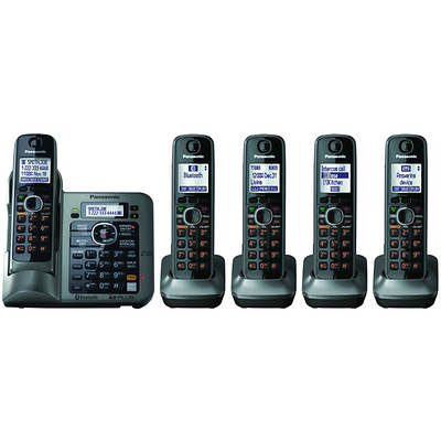 Panasonic  6.0 5-Handset Link-to-Cell with Bluetooth Cordless Phone with Digital Answering System