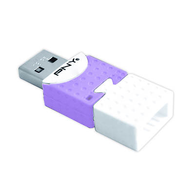 PNY 8GB USB 2.0 Flash Drive Connect Attache - Purple