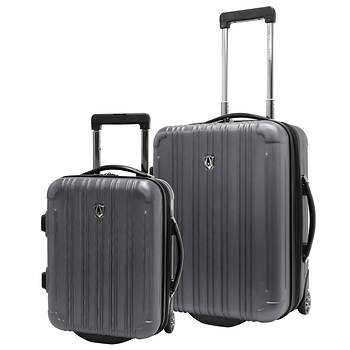 Traveler's Choice New Luxembourg 2-Pc. Carry On Luggage Set - Titanium
