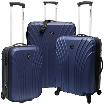 Traveler's Choice 3-Pc. Luggage Set - Navy