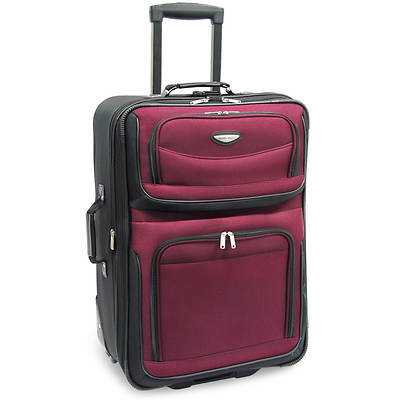"Travel Select Amsterdam 25"" Expandable Rolling Upright - Burgundy"