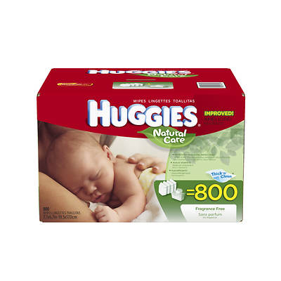 Huggies Natural Care Baby Wipes, 800 Count
