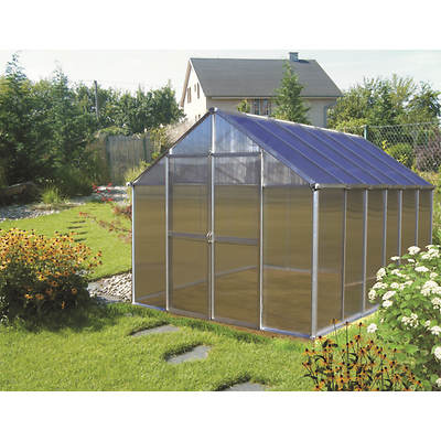 Riverstone Monticello 8' x 12' Premium Greenhouse with Bonus Kit - Aluminum
