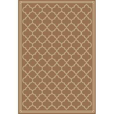 Natco Garden Gate 7'10 x 9'10 Indoor/Outdoor Rug - Beige/Ivory