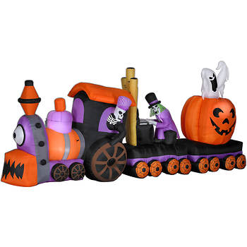 Animated Inflatable Halloween Train