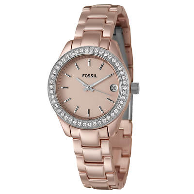 Fossil Stella Mini Glitz Women's Watch in Stainless Steel and Aluminum