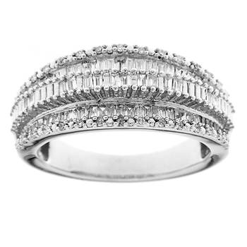 .50 ct. t.w.  Round Diamond Recessed Ring in Sterling Silver
