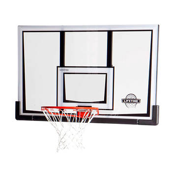 Lifetime 52 Basketball Backboard and Rim Combo