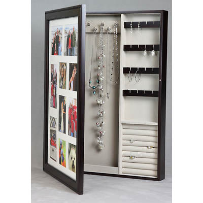 HomePointe Photo Frame Wooden Jewelry Box - Java