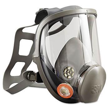3M 6000 Series Large Full-Face Mask Reusable Respirator, P100 Rating
