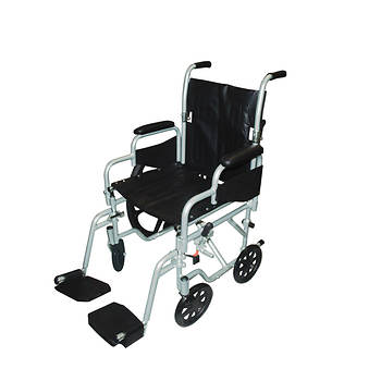 Drive Medical Poly-Fly High Strength Lightweight Wheelchair/Flyweight Transport Chair Combo
