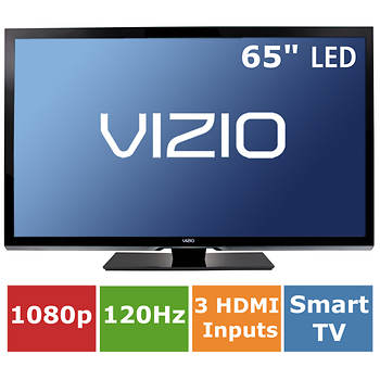 "VIZIO 65"" Smart 1080p 120Hz LED HDTV with Built-in Wi-Fi"