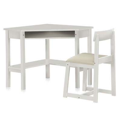 West Hampton Noble Corner Desk and Chair - White