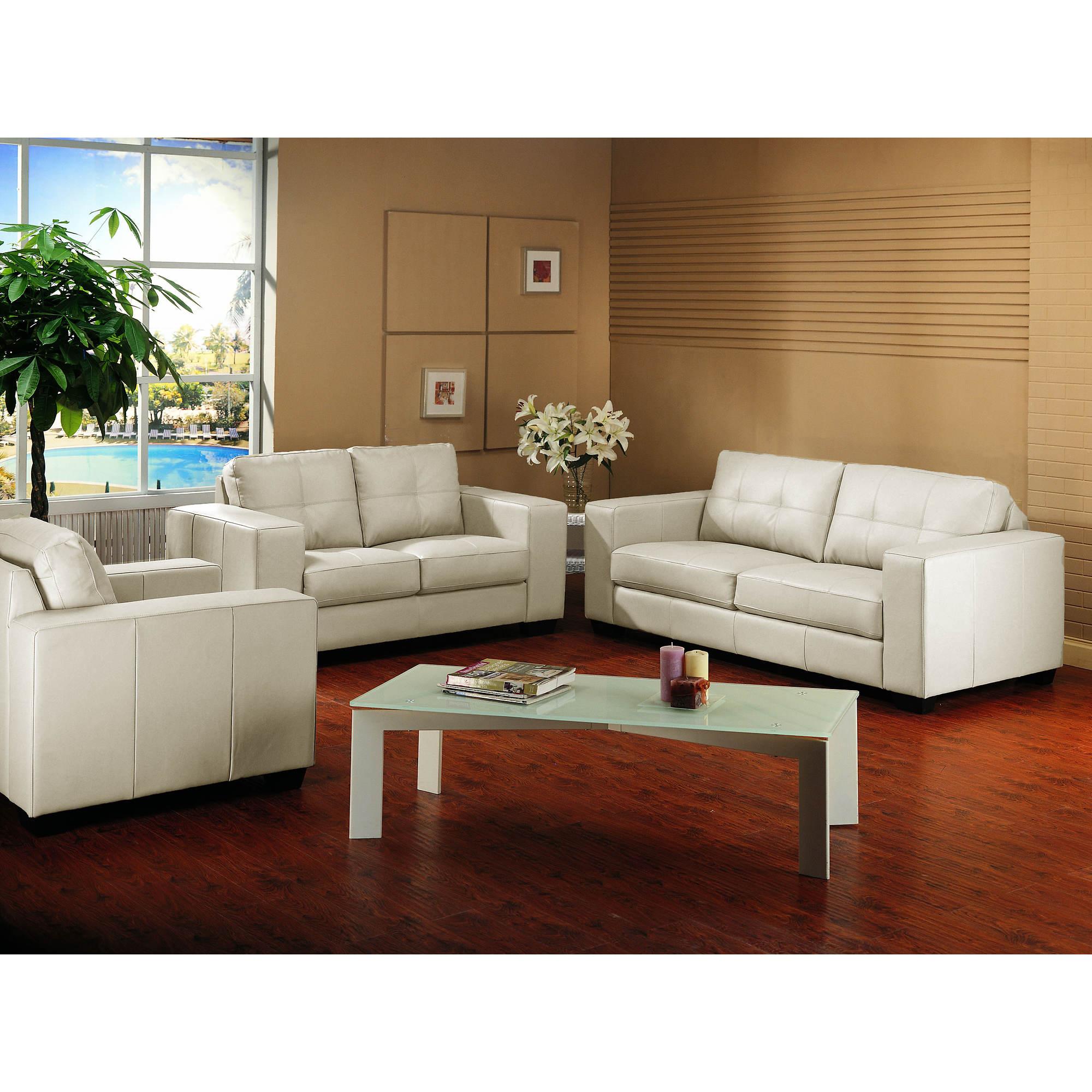 Ivory Leather Living Room Sets