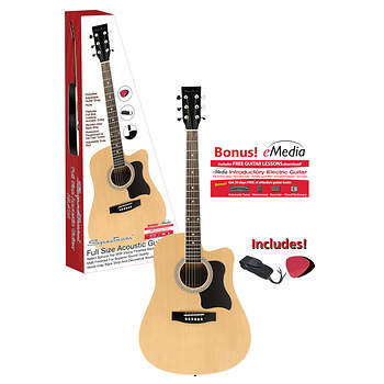 Spectrum AIL 41N Full-Size Cutaway Acoustic Guitar