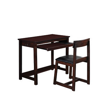 West Hampton Regal Desk and Chair - Espresso