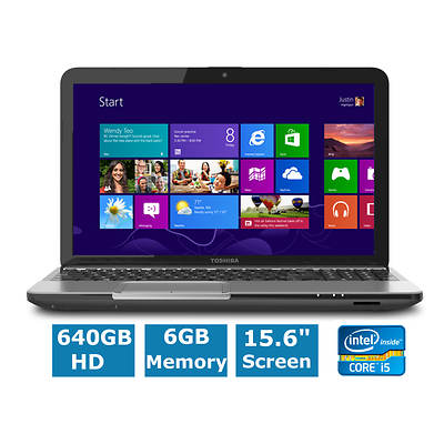 Toshiba Satellite L855-S5368 Laptop, Up to 3.1GHz Intel Core i5-3210M Processor