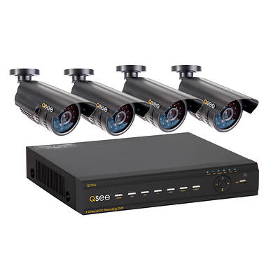 Q-See 4-Channel H.264 DVR with 1TB Hard Drive and 4 CCD Night Vision Cameras