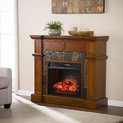 SEI Sierra Convertible Faux Stone Infrared Electric Fireplace - Toffee