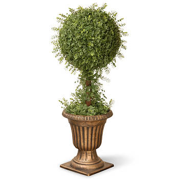"National Tree Company 36"" Artificial Mini Tea Leaf Topiary"