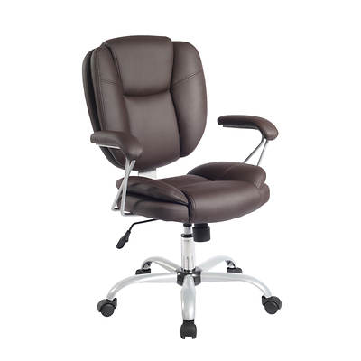 Techni Mobili Plush Task Chair - Brown