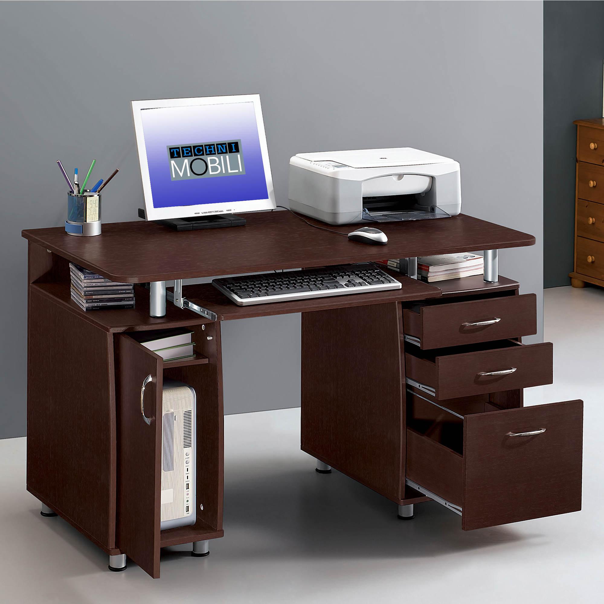 Techni mobili complete computer desk chocolate bj 39 s for Mobili computer
