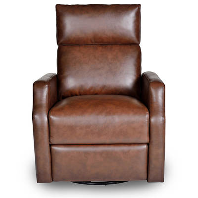 Harte Home Chloe Bonded Leather Rocker-Recliner - Duke Hazel