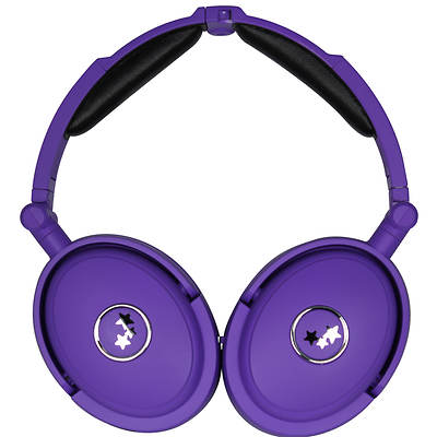 Able Planet NC180PRM True Fidelity Active Noise Canceling On-Ear Headphones - Neon Purple