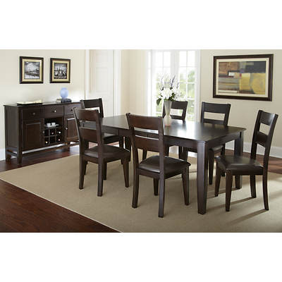Aada Marie Home St. Croix 8-Piece Dining Set - Dark Brown/Espresso